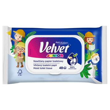 Nawilżany papier toaletowy junior – Velvet pomaga zachować czystość.