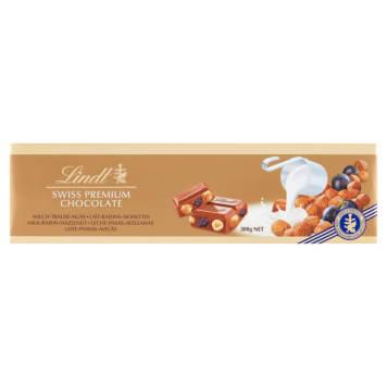 LINDT GOLD Czekolada Milk Raisins Hazelnut 300g