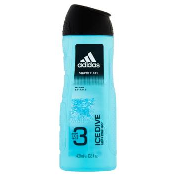 Żel pod prysznic 400ml - Adidas Ice Dive 3 - do ciała, twarzy i włosów