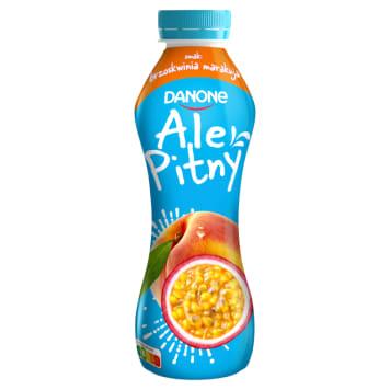 Danone - napój jogurtowy w butelce o smaku brzoskwini i marakuje. Smak egzotyki i lata.