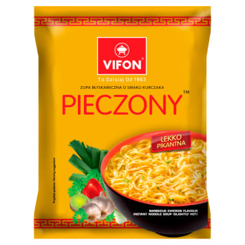 Vifon - Zupa łagodna kurczak pieczony. Wietnamski smak w kilka minut.