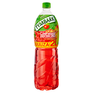 Tymbark - Napój jabłko czerwona porzeczka. Orzeźwiający napój owocowy bez konserwantów.