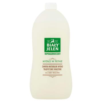 Mydło w płynie hipoalergiczne - Biały Jeleń jest bezpieczne zarówno dla skóry, jak i środowiska.
