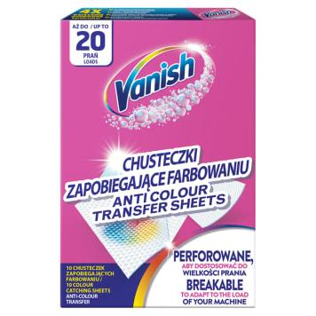Chusteczki zapobiegające zafarbowaniu-VANISH. Zapobiegają farbowaniu ubrań.