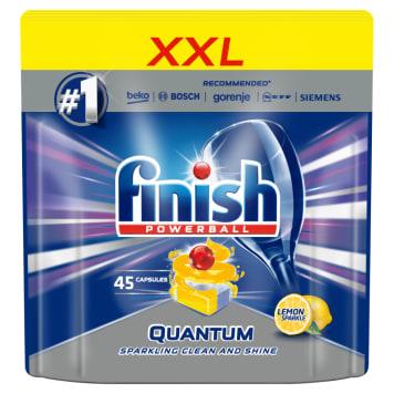 FINISH POWERBALL Quantum MAX Kapsułki do zmywarki Lemon Sparkle 45 szt. 1szt