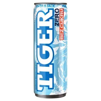 Gazowany napój energetyzujący Energy Drink ZERO - Tiger. Szybko dodaje energii.
