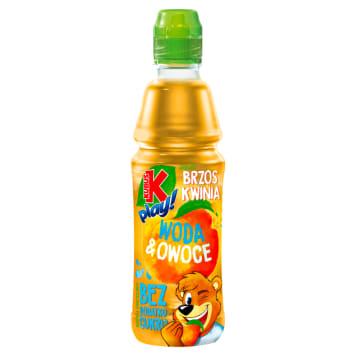 KUBUŚ Play! Napój owocowy woda i owoce jabłko brzoskwinia 400ml