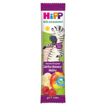 HIPP Batonik Owocowy- Przyjaciel Jabłka  Banany Maliny BIO 23g