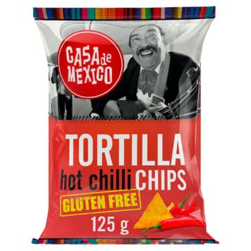 CASA DE MEXICO Tortilla chips Chilli bezglutenowe 125g