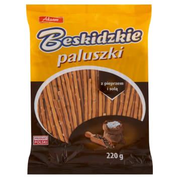 BESKIDZKIE Paluszki z pieprzem i solą 220g