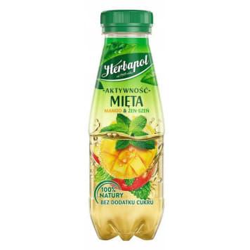HERBAPOL Aktywność Napój niegazowany owocowo-ziołowy mięta,mango żeń-szeń PET 300ml