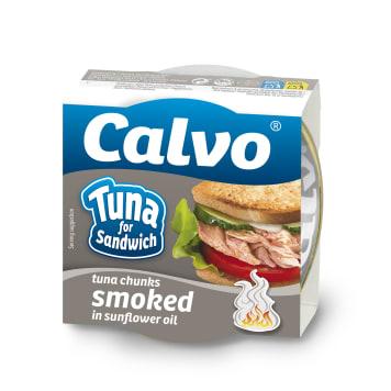 CALVO Tuńczyk wędzony w oleju roślinnym 142g