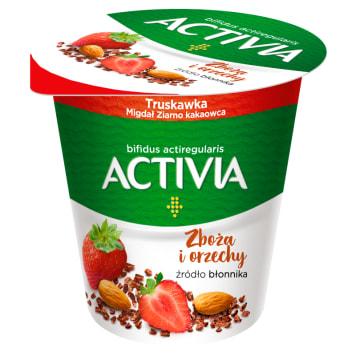 DANONE Activia Jogurt o smaku truskawki, migdała i kakao 140g