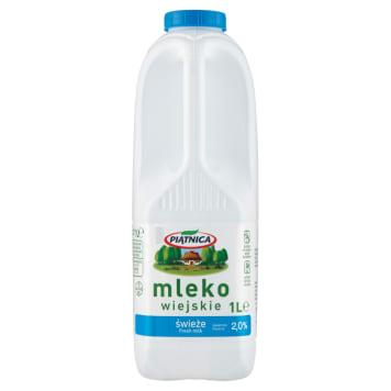 PIĄTNICA Mleko wiejskie świeże 2% 1l
