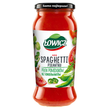 ŁOWICZ Sos spaghetti pikantny 500g
