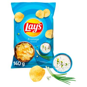 Chipsy ziemniaczane o smaku śmietankowego serka z ziołami.