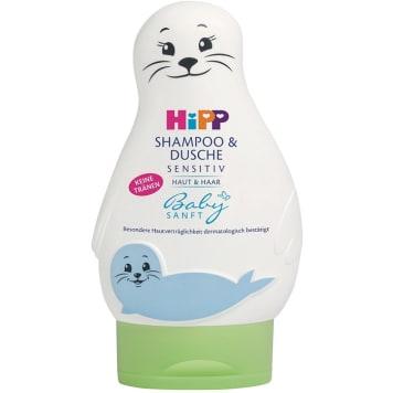 HIPP Baby Sanft Żel do mycia ciała i włosów dla dzieci - foczka 200ml