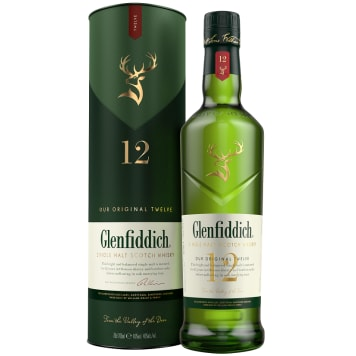 GLENFIDDICH 12 y.o. Single Malt Szkocka whisky w tubie 700 ml