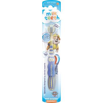 AQUAFRESH Milk Teeth Szczoteczka do zębów dla dzieci 0-2 lat Soft Psi Patrol 1szt