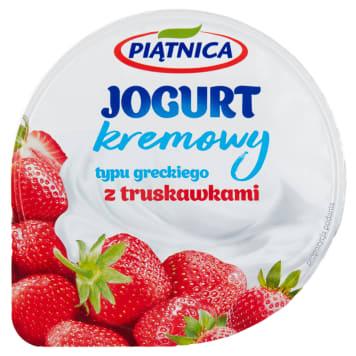 PIĄTNICA Jogurt typu greckiego z truskawkami 150g