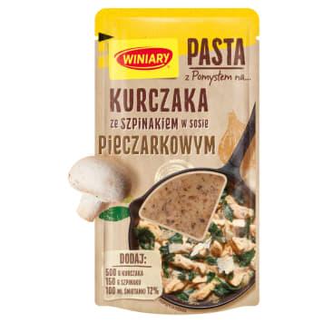 WINIARY Pomysł na... Kurczak ze szpinakiem w sosie (pasta) 80g