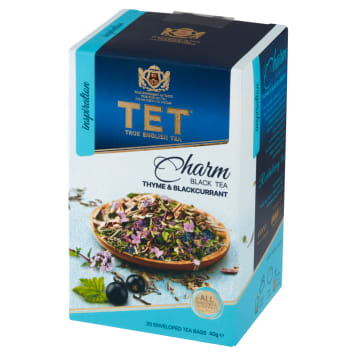 TET THYME & BLACKCURRANT Herbata czarna, aromatyzowana 40g