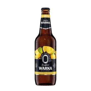 WARKA Radler Piwo bezalkoholowe ciemne cytrynowe (cena zawiera 0,5zł kaucji za butelkę) 500ml
