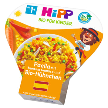 HIPP Paella z kolorowymi warzywami i kurczakiem BIO, po 12 miesiącu 250g