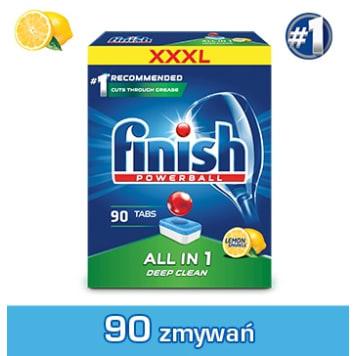 FINISH All in 1 Tabletki do zmywarki Lemon cytrynowe 90 szt 1szt
