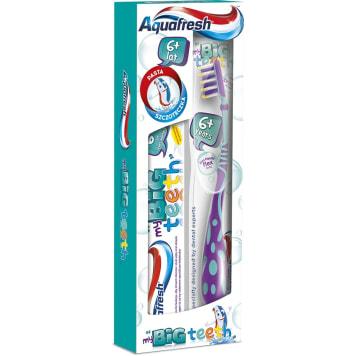 AQUAFRESH BIG teeth Zestaw pasta do zębów i szczoteczka do mycia zębów dla dzieci 1szt