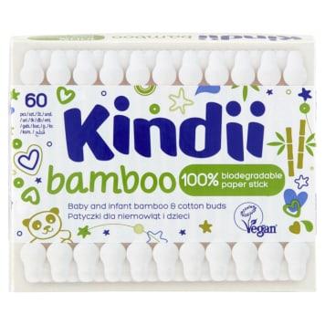 KINDII Bamboo Patyczki do uszu dla dzieci i niemowląt 60 szt 1szt
