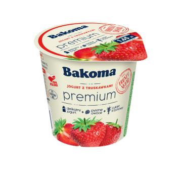 BAKOMA Premium Jogurt truskawkowy 140g