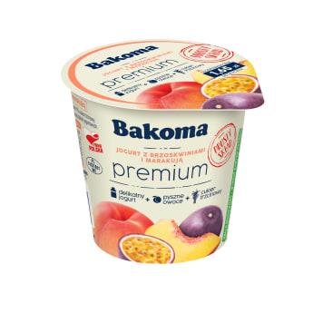 BAKOMA Premium Jogurt z brzoskwiniami i marakują 140g