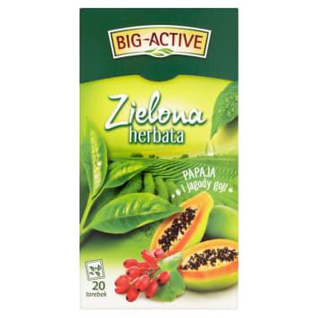 BIG ACTIVE Herbata zielona z papają i jagodami goji 30g