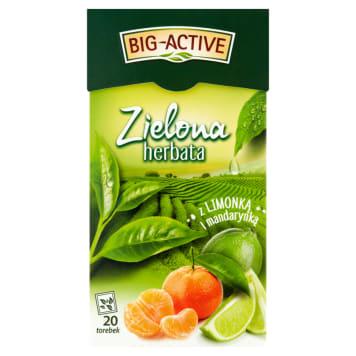 BIG ACTIVE Herbata zielona z mandarynką i limonką 30g