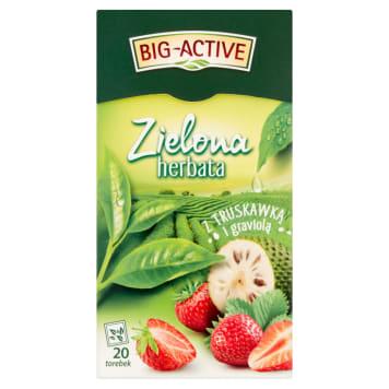 BIG ACTIVE Herbata zielona truskawka z graviolą 30g