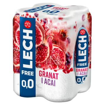 LECH Free Piwo bezalkoholowe Granat i Acai (puszka) 4x500ml 2l