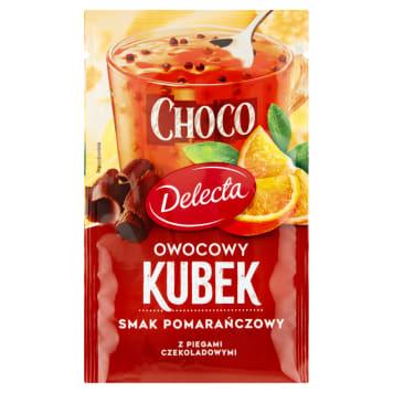 DELECTA Owocowy Kubek Kisiel o smaku pomarańczowym z piegami czekoladowymi 32g