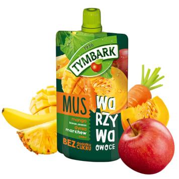 TYMBARK Mus mango banan ananas dynia marchew jabłko 100g