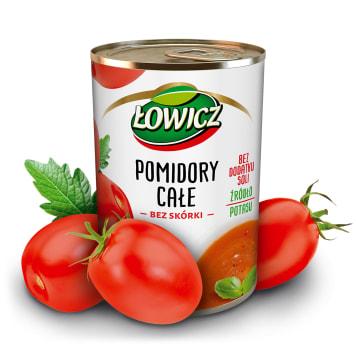 ŁOWICZ Pomidory całe bez skórki 400g