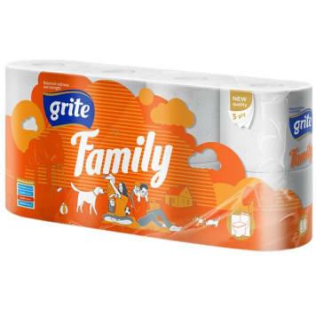 GRITE Papier toaletowy 8 rolek Family 1szt
