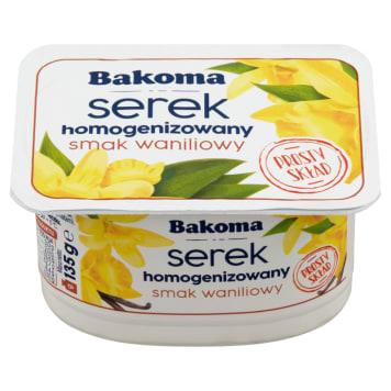 BAKOMA Serek homogenizowany, waniliowy 140g