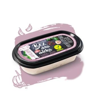 BEZ DEKA MLEKA Wegańska alternatywa sera z czosnkiem i pieprzem 150g