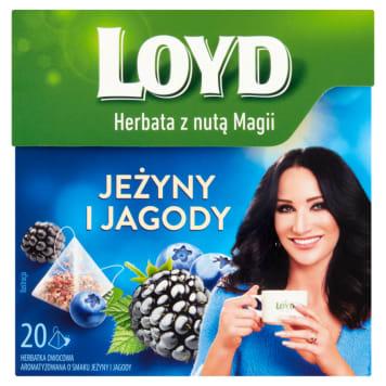 LOYD TEA Herbata owocowa o smaku jeżyny i jagody 20 torebek 40g