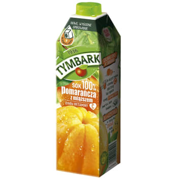 TYMBARK Sok 100% pomarańcza z miąższem 1l