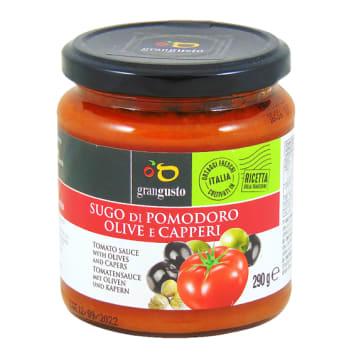 GRAN GUSTO Sos pomidorowy z oliwkami i kaparami 290g