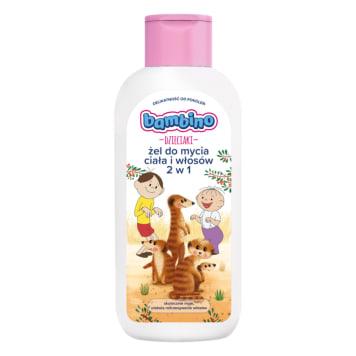 BAMBINO Dzieciaki Żel do mycia ciała i włosów 2w1 surykatki 400ml