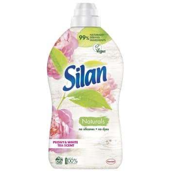 SILAN Naturals Płyn do zmiękczania tkanin Peony & White Tea Scent 1.45l