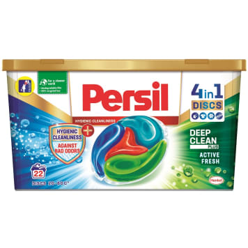 PERSIL Against Bad Odors + Hygienic Cleanliness Kapsułki do prania tkanin kolorowych 22 szt 550g
