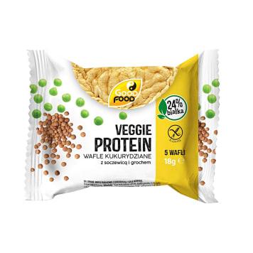 GOOD FOOD Wafle cienkie proteinowe/wysokobiałkowe z kukurydzą i solą 18g
